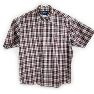 Wrangler Pearl Snap Short Sleeve Shirt Size XXL